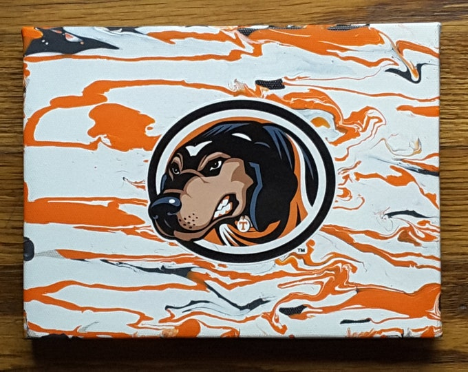 SMOKEY Vols Mascot on Fluid Painting