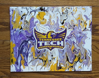 """Tennessee Tech Eagle Wings Up Painting  8x10"""""""