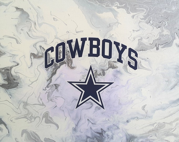 Dallas Cowboys original painting with COWBOYS and Star logos
