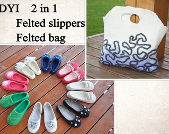 PDF tutorial Wet felted wool slippers