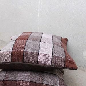 Woven Pillow Cushion Saori weaving | Etsy
