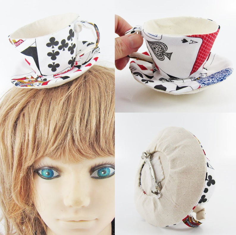 MADE-TO-ORDER  1  2 Weeks Teacup Fascinator Hair Clip for image 0