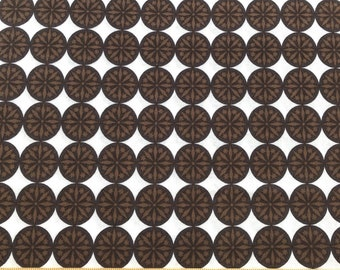 Black Medallion Fabric Brown Medallion Fabric Brown Quilting Fabric Pattern CX4312 Michael Miller Snow Dots
