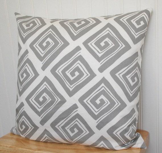 Gray Geometric Throw Pillow Gray Pillow Cover 18x18 Throw Etsy