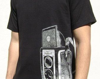 Vintage Camera Shirt. Printed on Ultra Soft Ringspun Cotton