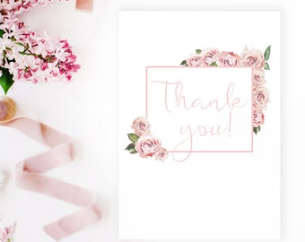 Thank you card printable card