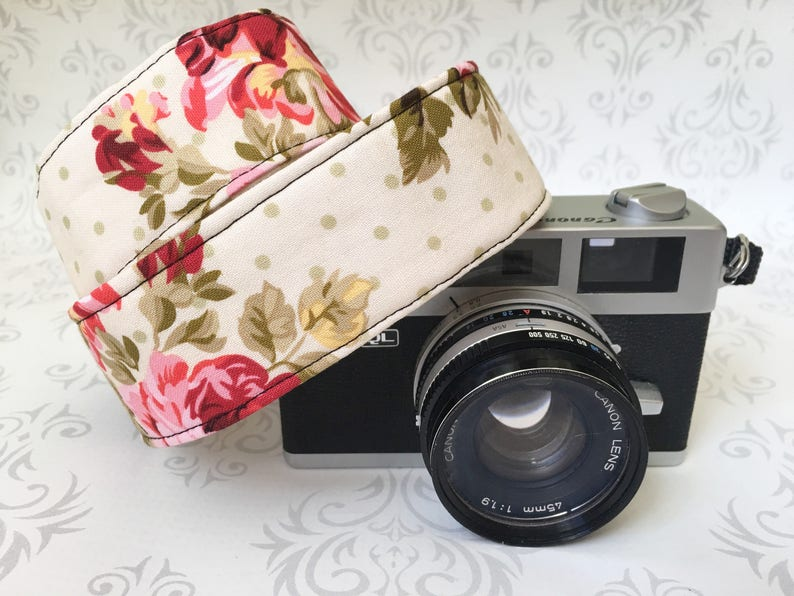 Skinny Camera Strap Basic DSLR Camera Strap Padded image 0