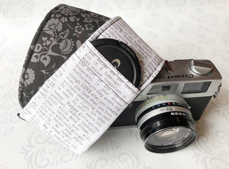 DSLR Camera Strap with Lens Cap Pocket Photographer Gift  image 0