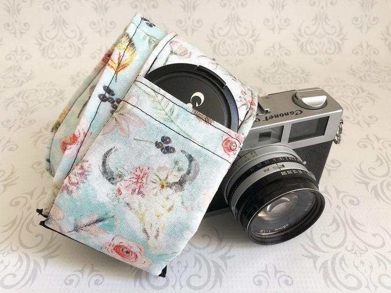 DSLR Camera Strap Padded with Lens Cap Pocket Nikon Canon image 0