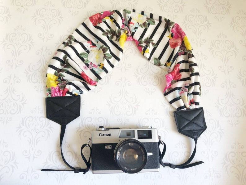READY TO SHIP Scarf Dslr Camera Strap Photographer Gift   image 0