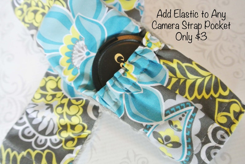 ADD ON ONLY  Elastic to Camera Strap Pocket  72 or 80mm Lens image 0