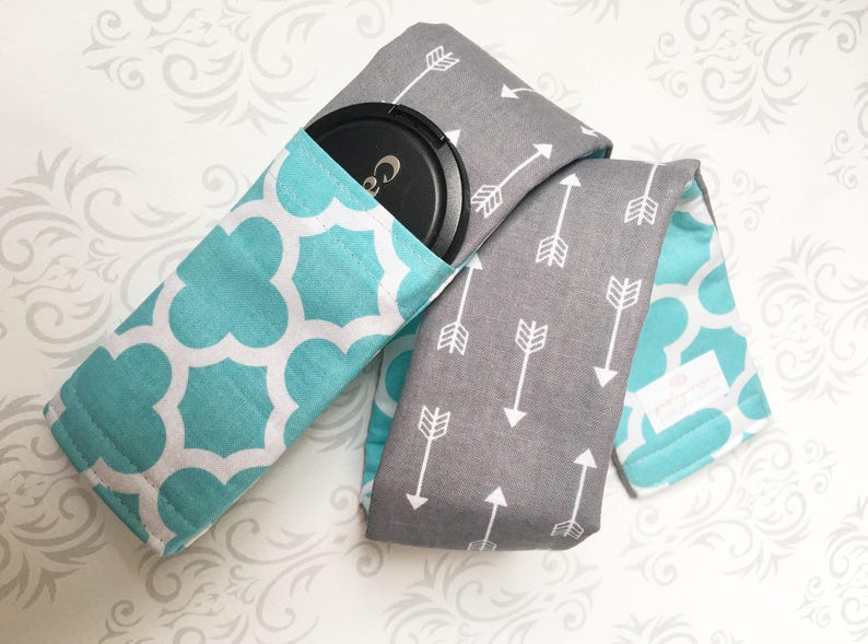 Camera Strap Cover Lens Cap Pocket Reversible Padded image 0