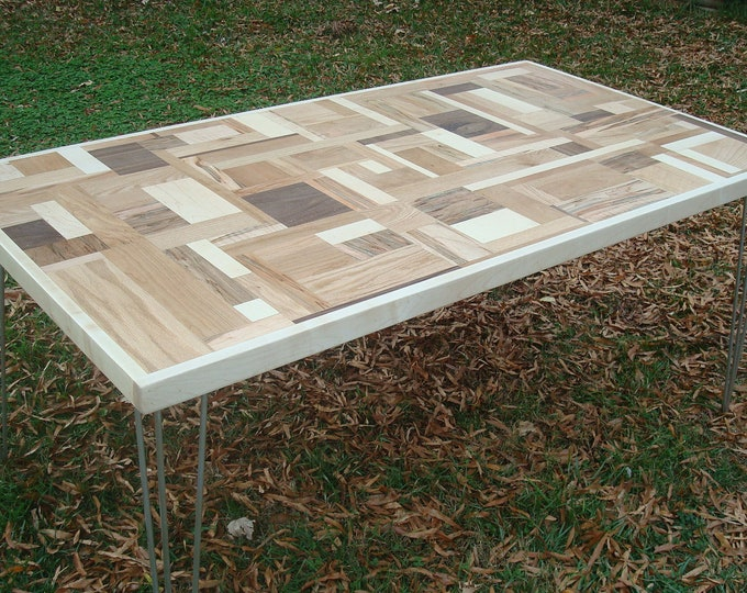 Modern Wood Table Puzzle Piece Dining Table Mid Century Modern Reclaimed Wood Table