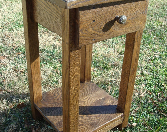 Reclaimed Wood Side Table Small Side Table Rustic Wood Handmade Table