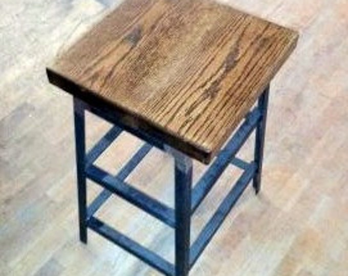 Bar Stool Metal Stool Wood Stool Counter Stool Reclaimed Wood Chair Reclaimed Wood Stool