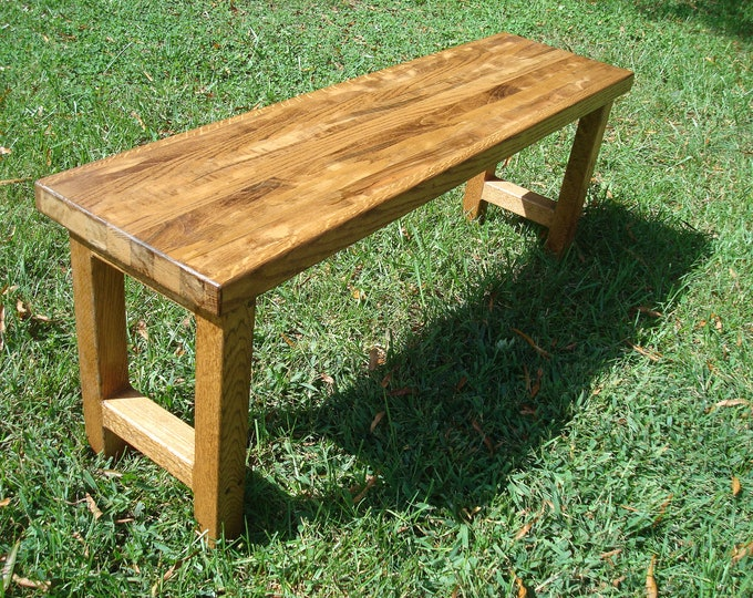 Wood Bench Reclaimed Wood Bench Rustic Wood Bench Handmade Bench FREE SHIPPING