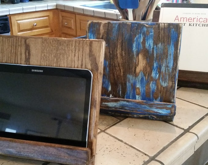 iPad Stand, Kitchen iPad Stand, Rustic Cookbook Stand, iPad Holder, Reclaimed Wood Tablet Holder FREE SHIPPING