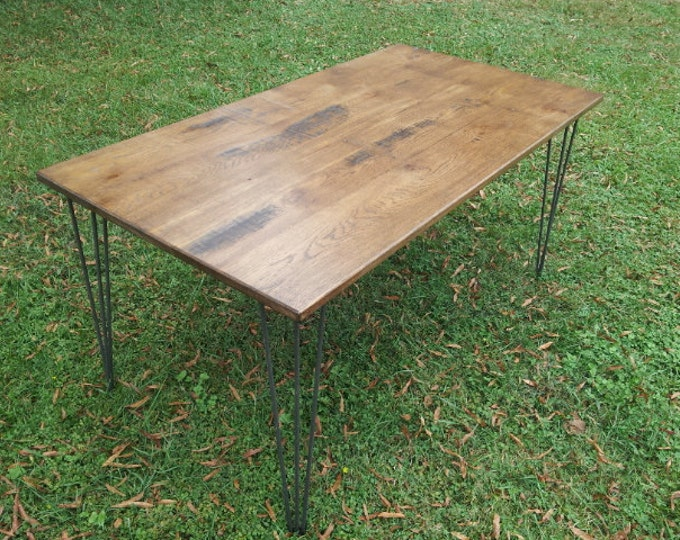 Rustic Wood Reclaimed Wood Table Wide Plank Wood Table Industrial Table Wood Dining Table