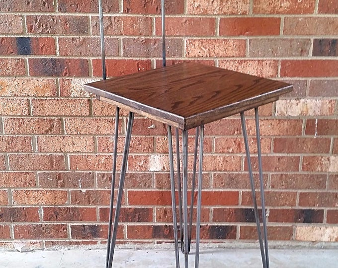 Wood Chair Metal Chair Wood and Metal Barstool with Hairpin Legs