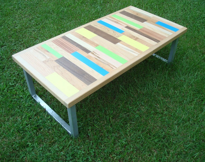 Painted Table Coffee Table Reclaimed Wood Table Reclaimed Wood Coffee Table