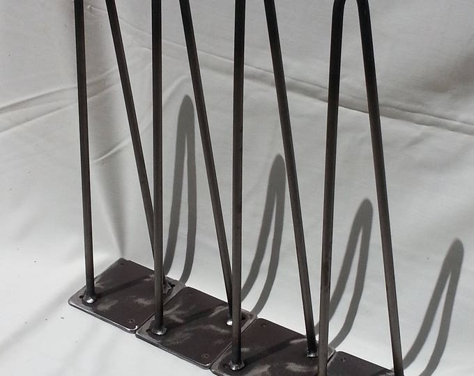 "Hairpin Legs Metal Table Legs Furniture Legs Table Legs Coffee Table Legs 12-28"" high SET OF FOUR"