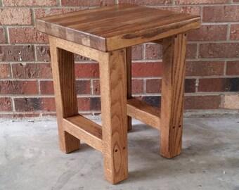 Wood Stool, Wood Side Table, Rustic Wood Stool, Reclaimed Wood, Side Table