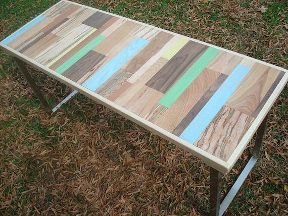 Bois récupéré peint table table à manger en bois fait main etsy