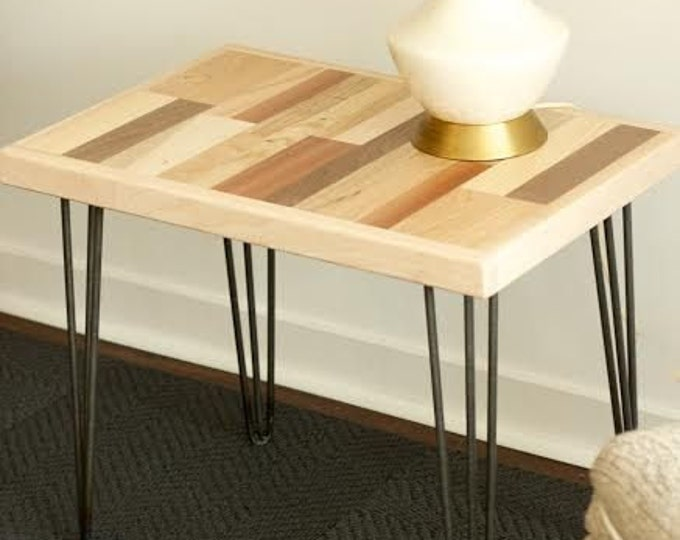 Reclaimed Wood Side Table Coffee Table Wood Table Mixed Wood Table
