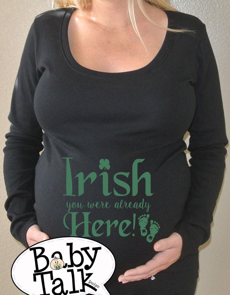 478b4bd5a352f Irish you were here St Patricks Maternity shirt can't   Etsy