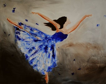 Still the Hunger-FINE ART PRINT Contemporary Abstract Impressionism Dancer Oil Painting