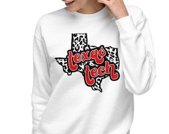 Texas Tech Unisex Fleece Pullover   Texas Tech Guns Up Sweater   Wreck Em Tech   Texas Tech   Guns Up   Tech Football Tee   Lubbock TX