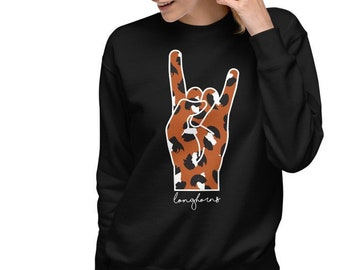 University of Texas Unisex Fleece Pullover   UT Longhorns   Austin Texas   University of Texas Sweater   Hook Em Horns Sweatshirt   BEVO