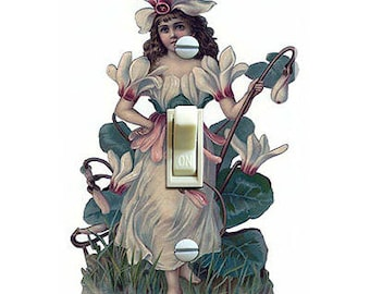 Vintage Fairy Illustration Decorative Single Switch Plate  ***FREE SHIPPING***
