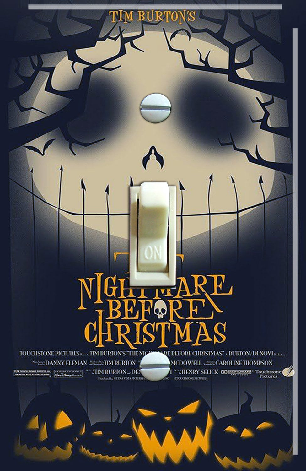 Nightmare Before Christmas Movie Poster Single/Double Switch | Etsy