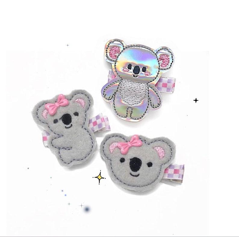 Cute Koala Hair Clip Baby Girl Hair Clip Clippie Baby Barrette Baby Hair Clip Girl Hair Clip No Slip Hair Clip Toddler Hair Clip