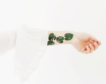Monstera Palm Temporary Tattoo Multipack - Small