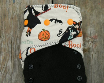 Halloween witch Ai2 hybrid diaper in black