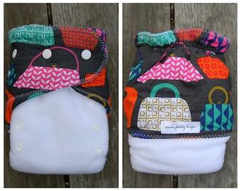 Urban Hand Bags Ai2 hybrid cloth diaper with bamboo soaker