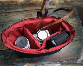 NEW Camera Bag Inserts - Purse Handbag dividers - Removable Insert