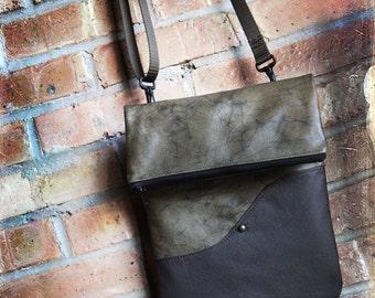 Leather Ipad Case Bag Kindle Nook Ereader tablet with shoulder strap