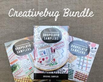 Creativebug Dropcloth Sampler Embroidery  Bundle