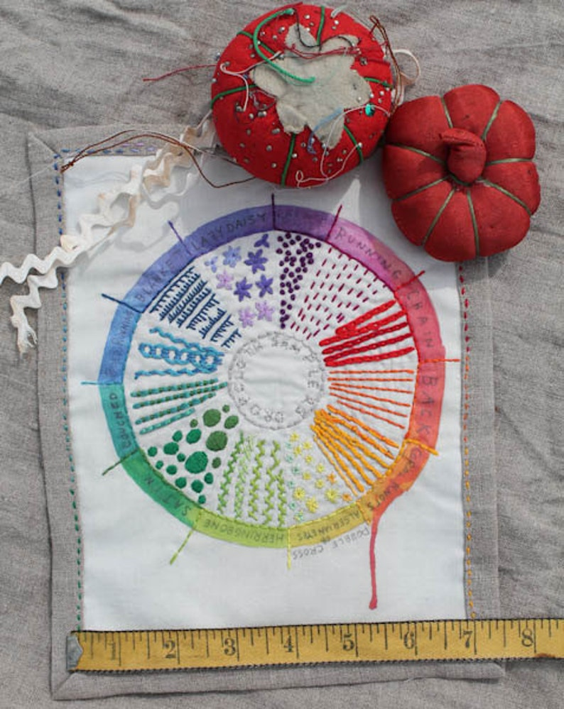 Color Wheel Embroidery Sampler by Dropcloth image 0
