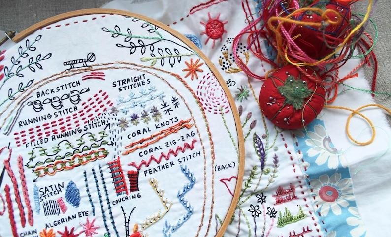 Original Dropcloth Embroidery Sampler image 0