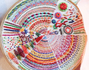 Pie Embroidery Sampler