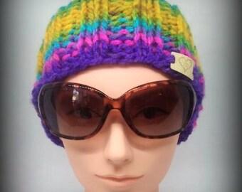 headband - knit headband - hand knit headband - yellow knit headband - ear warmer - knit ear warmer - pink knit headband - green headband