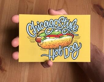 chicago hot dog postcard - 6
