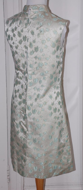60s Dress, Suzy Perette, 1960s, Brocade, Silver B… - image 4