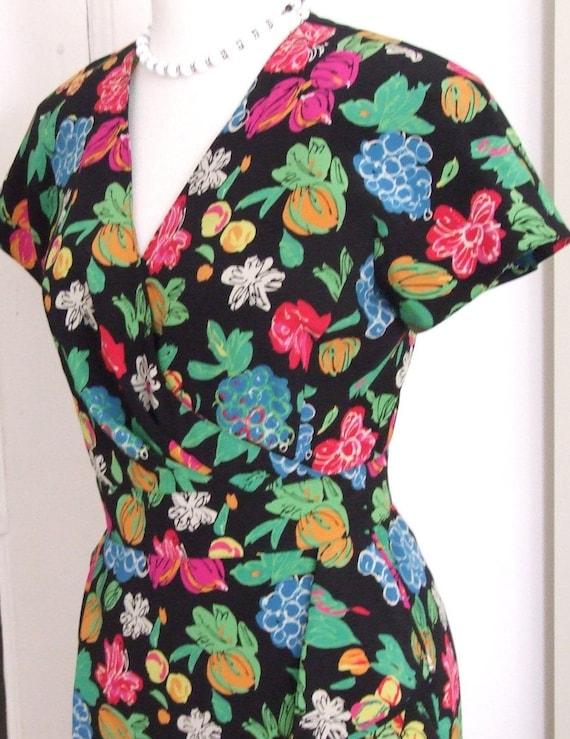 80s Dress, Novelty Print, Ungaro Paris,1980s,  Des