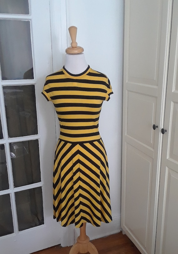 70s Dress, Mod, Clovis Ruffin, 1970s, Vintage Desi