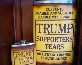 Giant 64oz Leather Bound Flask - Trump Supporter's Tears
